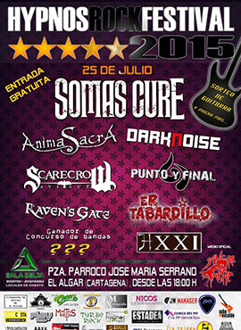 cartel concieto rock